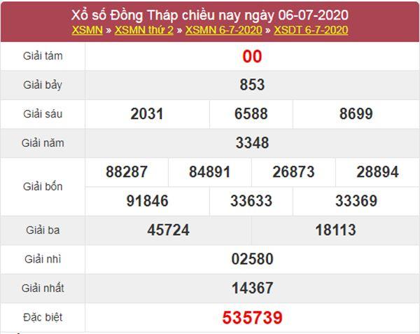 Soi cầu XSDT 13/7/2020 chốt lô giải tám Đồng Tháp thứ 2