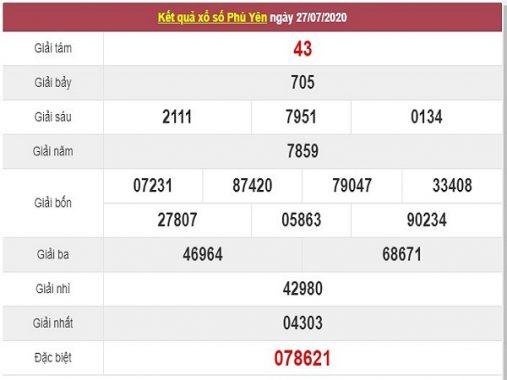 Thống kê XSPY ngày 3/8/2020, thống kê xổ số Phú Yên