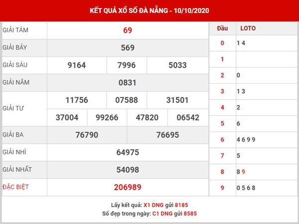 Soi cầu số đẹp xổ xố Đà Nẵng thứ 4 ngày 14-10-2020