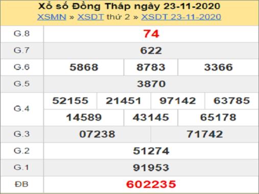 Soi cầu XSDT 30/11/2020, chốt số Đồng Tháp tỷ lệ trúng cao