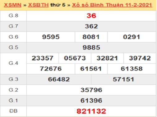 Soi cầu XSBTH 18/2/2021