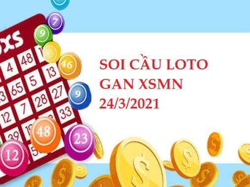 Soi cầu loto gan XSMN ngày 24/3/2021 hôm nay