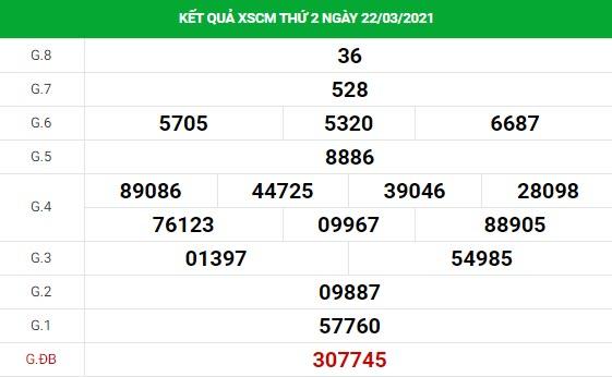 Soi cầu XS Cà Mau chính xác thứ 2 ngày 29/03/2021