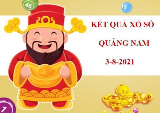 Soi cầu xổ số Quảng Nam thứ 3 ngày 3/8/2021