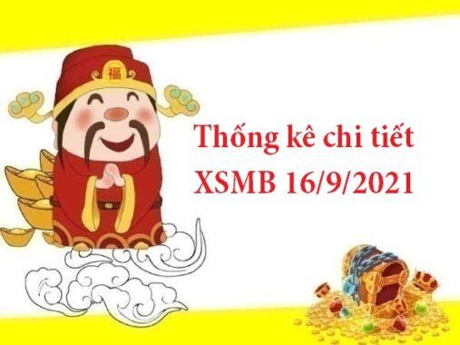 Thống kê chi tiết XSMB 16/9/2021 thứ 5