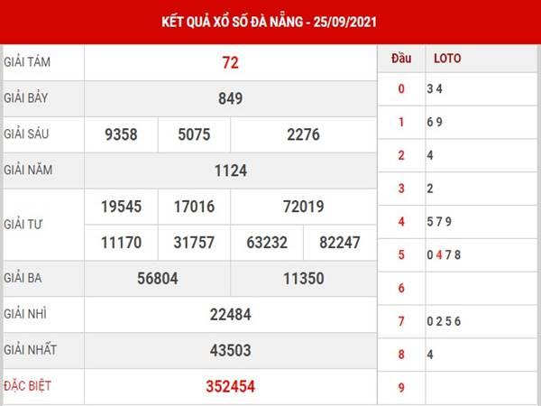 Thống kê KQSX Đà Nẵng thứ 4 ngày 29/9/2021